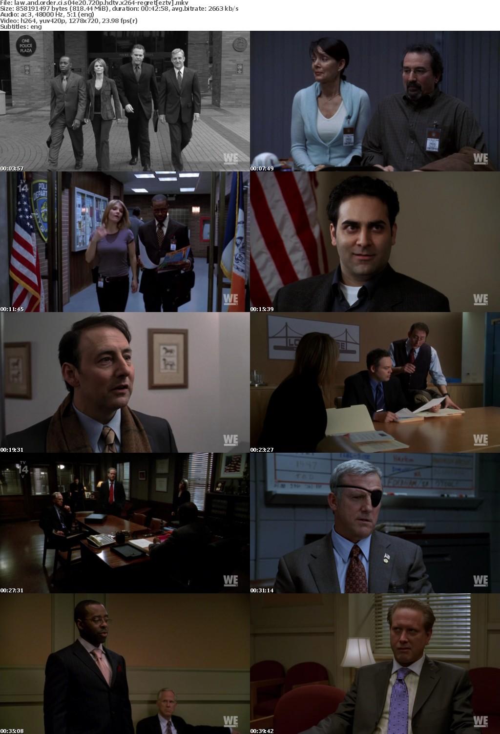 Law and Order CI S04E20 720p HDTV x264-REGRET