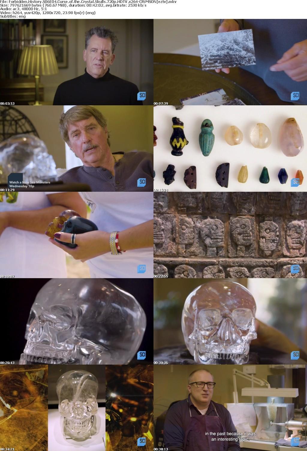 Forbidden History S06E04 Curse of the Crystal Skulls 720p HDTV x264-CRiMSON