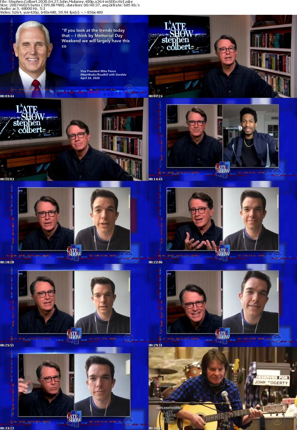 Stephen Colbert 2020 04 27 John Mulaney 480p x264-mSD