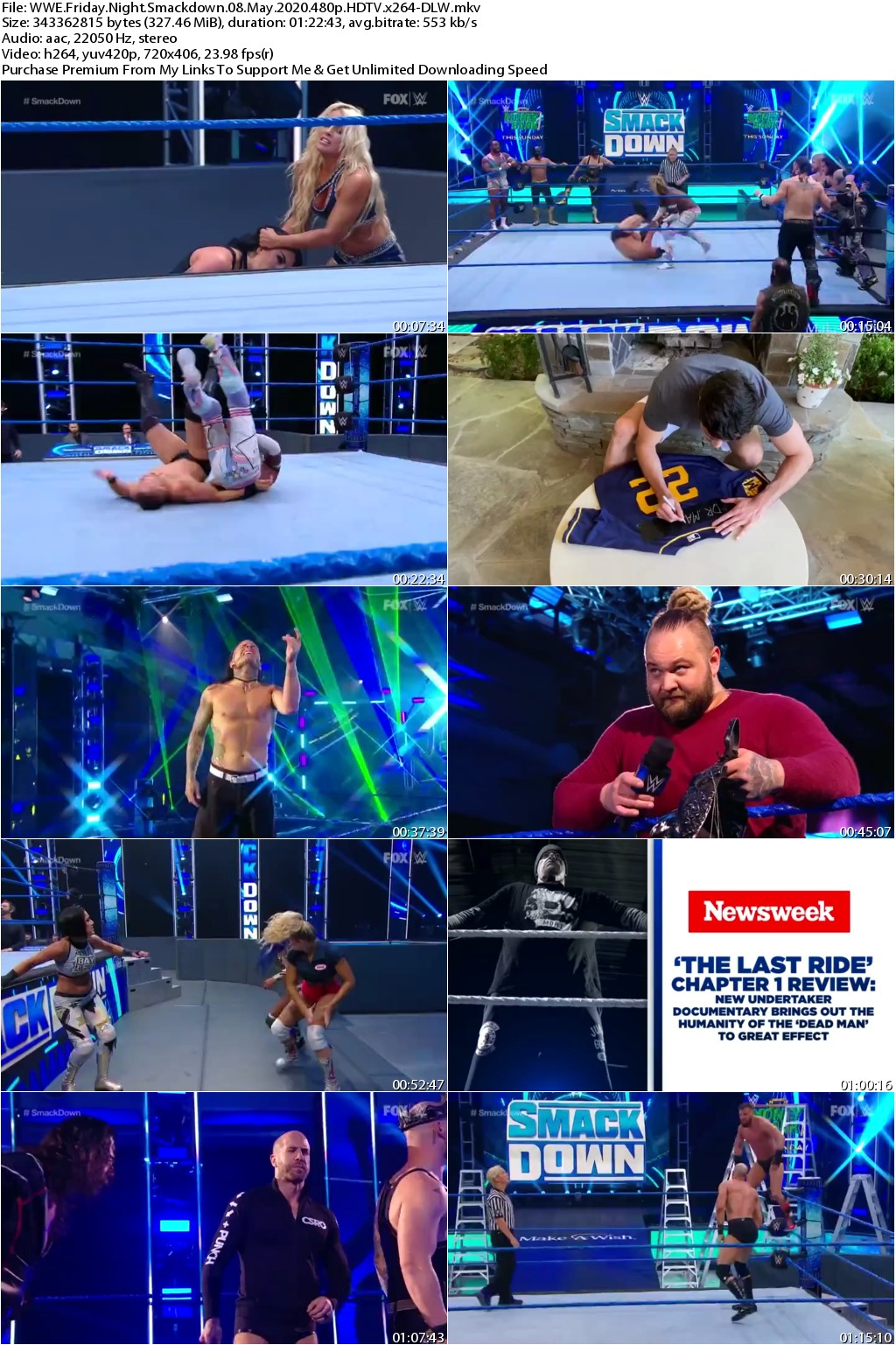 WWE Friday Night Smackdown 08 May 2020 480p HDTV x264-DLW