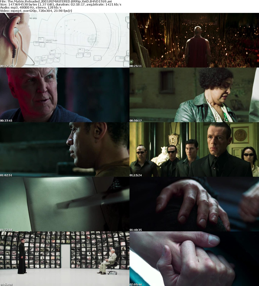 The Matrix Reloaded (2003) REMASTERED BRRip XviD B4ND1T69