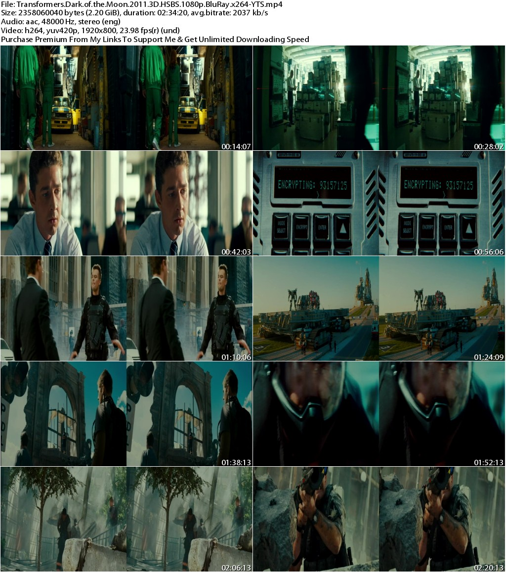 Transformers Dark of the Moon (2011) 3D HSBS 1080p BluRay x264-YTS