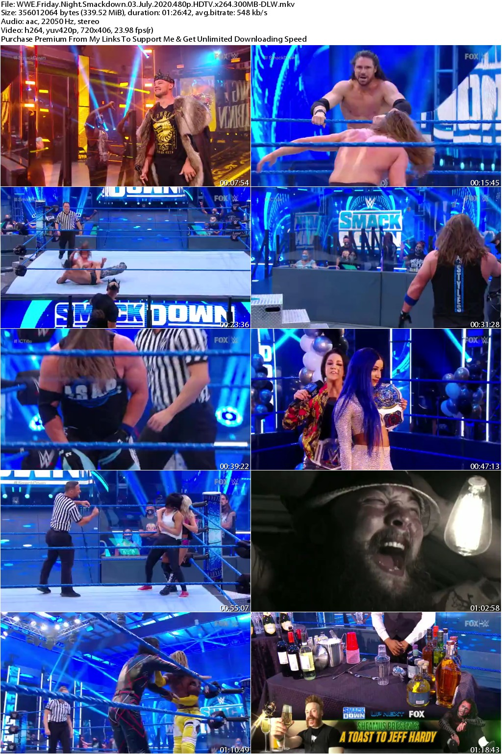 WWE Friday Night Smackdown 03 July 2020 480p HDTV x264 300MB-DLW