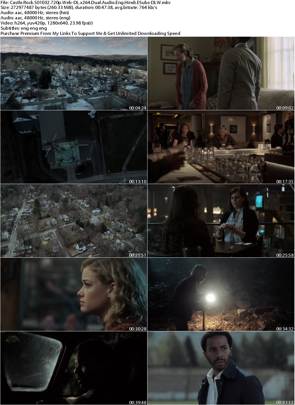 Castle Rock S01 Complete 720p Web-DL Dual Audio Eng Hindi 2.6GB-DLW