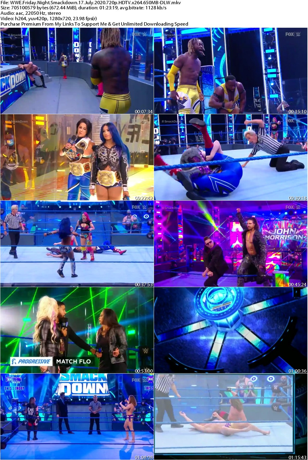 WWE Friday Night Smackdown 17 July 2020 720p HDTV x264 650MB-DLW