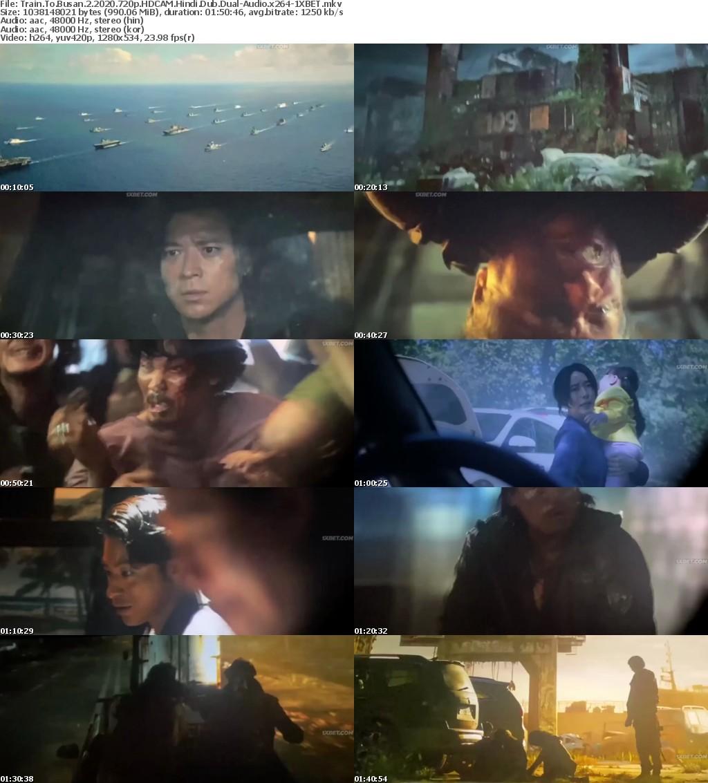 Train to Busan 2 (2020) 720p HDCAM Hindi-Dub Dual-Audio x264 - 1XBET