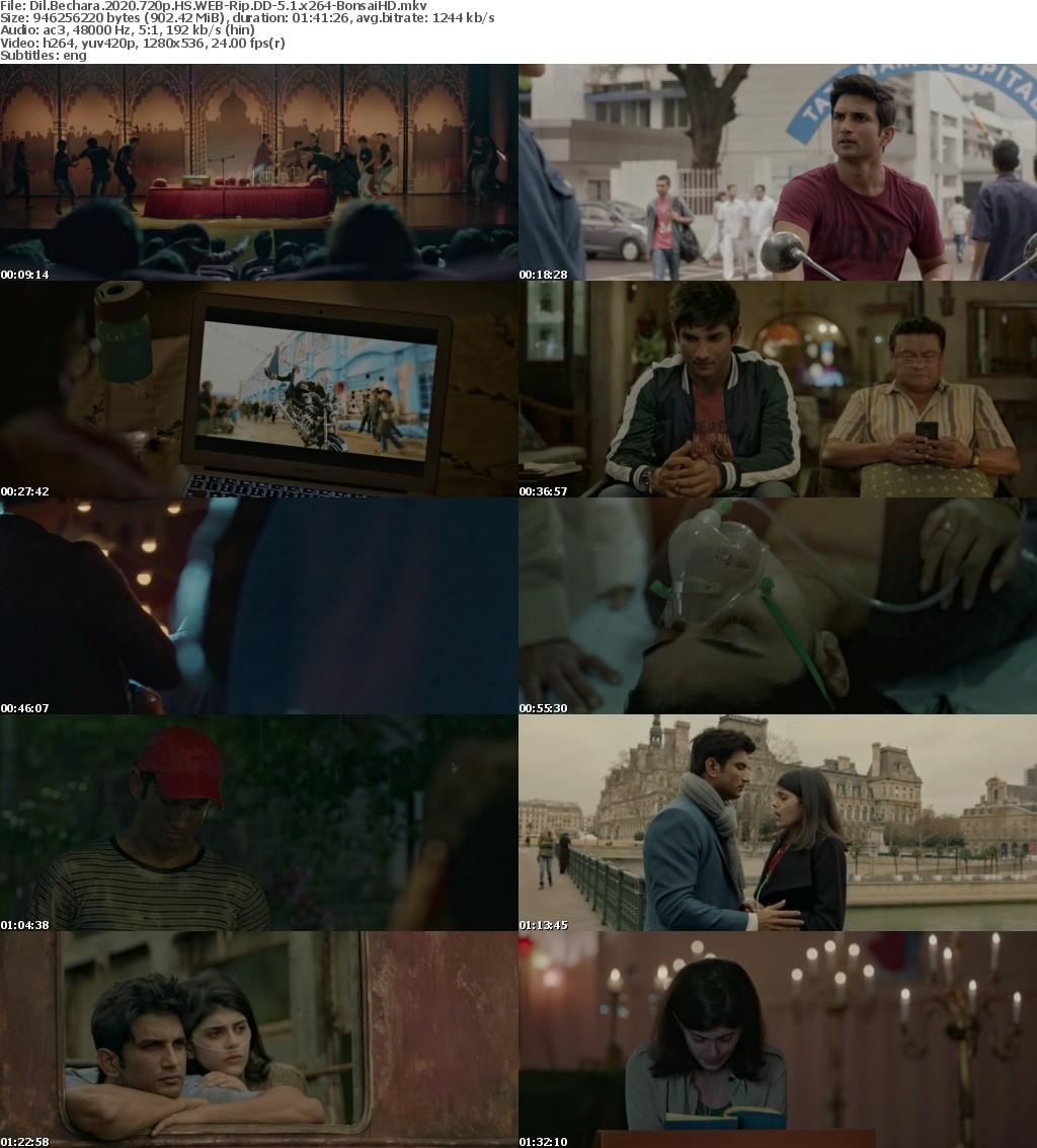 Dil Bechara (2020) Hindi 720p HS WEBRip900 MB DD-5 1 ESub x264 - Shadow (BonsaiHD)