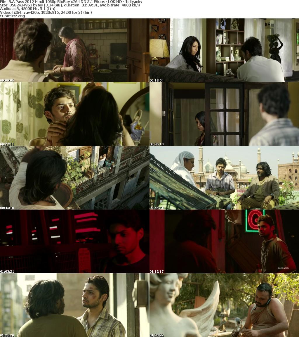 B A Pass 2012 Hindi 1080p BluRay x264 DD 5 1 ESubs - LOKiHD - Telly