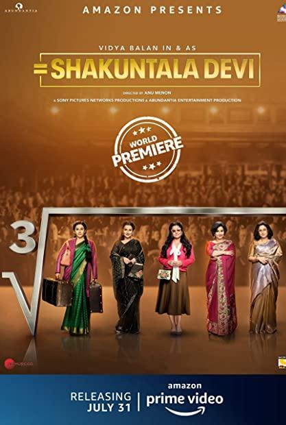 Shakuntala Devi (2020) Hindi 720p AMZN WEBRip 1 GB AAC 5 1 ESub x264 - Shad ...