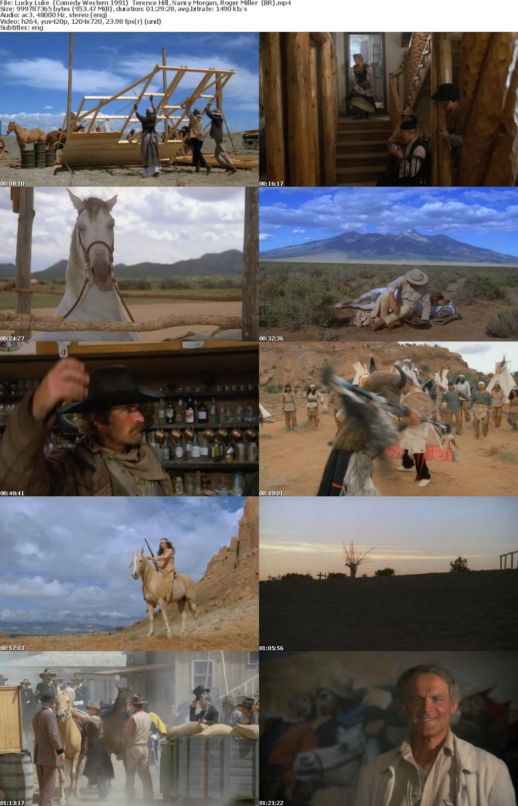 Lucky Luke (Comedy Western 1991) Terence Hill 720p BrRip