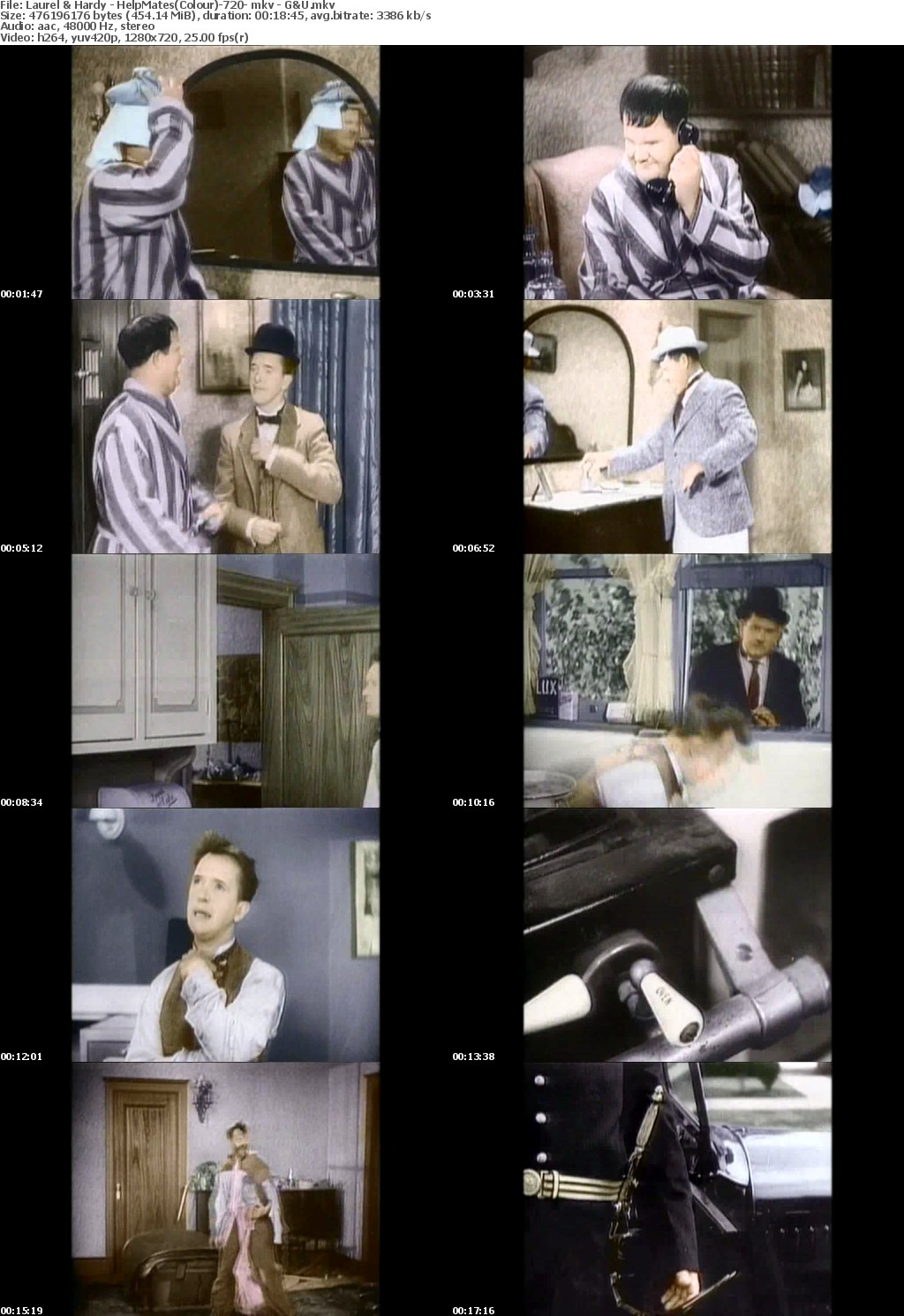 Laurel Hardy - HelpMates(Colour)-720- mkv - G U