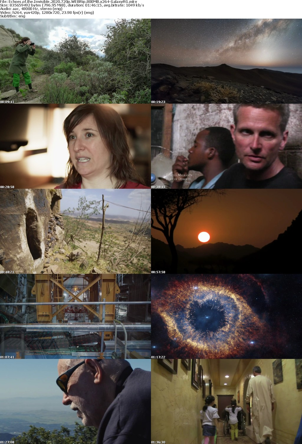 Echoes of the Invisible 2020 720p WEBRip 800MB x264-GalaxyRG