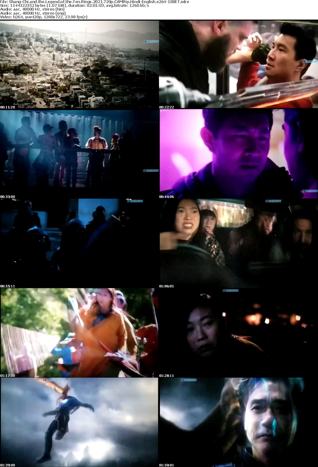 Shang-Chi and the Legend of the Ten Rings (2021) 720p CAMRip Hindi + English x264